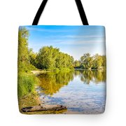 Quiet River With Trees Tote Bag