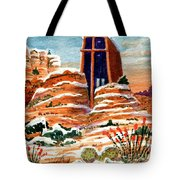 Quiet Snowfall  Sedona  Arizona Tote Bag