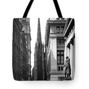 Quiet Sunday On Wall Street Tote Bag