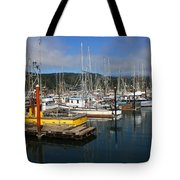 Quiet Time At The Harbor Tote Bag