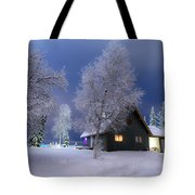 Quiet Winter Times Tote Bag by Ron Day