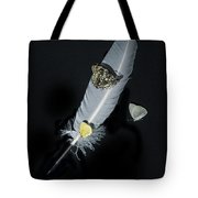 Quill With Butterflies Tote Bag
