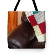 Quilt Beside A Fireplace Tote Bag