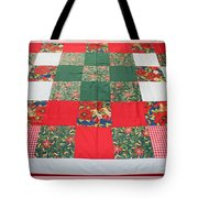Quilt Christmas Blocks Tote Bag