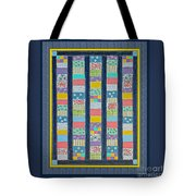 Quilt Painting With Digital Border 2 Tote Bag