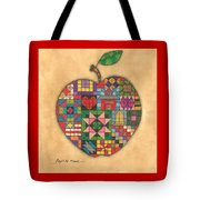 Quilted Apple Tote Bag
