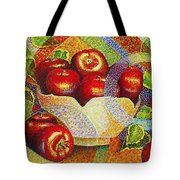 quilted Apples Tote Bag