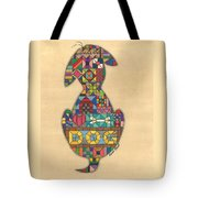 Quilted Dog Tote Bag