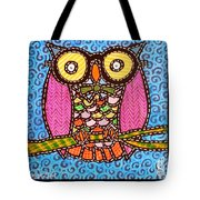Quilted Judge Owl Tote Bag