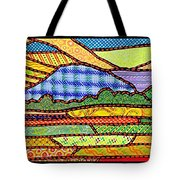 Quilted Massanutten Sunset Tote Bag