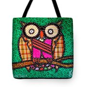 Quilted Mr Owl Esquire Tote Bag