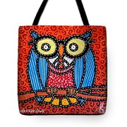 Quilted Professor Owl Tote Bag