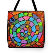 Quilted Spiral Snake Tote Bag