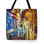 Quito Ecuador - Palette Knife Oil Painting On Canvas By Leonid Afremov Tote Bag