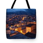 Quito Old Town At Night Tote Bag
