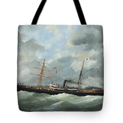 R. Bell And Co.s Steamship Bothal In A Heavy Swell Tote Bag