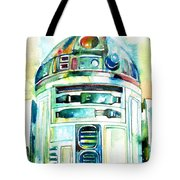 R2-d2 Watercolor Portrait Tote Bag
