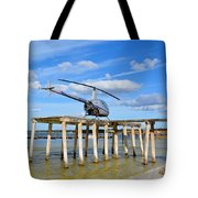 R22 On A Dock Tote Bag