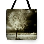 Rabbit In The Distant Shadows Tote Bag