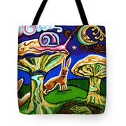 Rabbits At Night Tote Bag