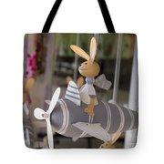 Rabbits Can Fly Tote Bag