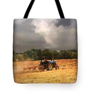 Race Against The Storm Tote Bag by Jai Johnson