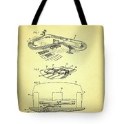 Race Car Track With Race Car Retaining Means Patent 1968 Tote Bag