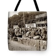 Race Cars Crown Point Indiana June 19 1909 Tote Bag