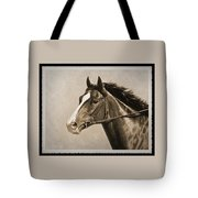 Race Horse Old Photo Fx Tote Bag by Crista Forest