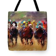 Race To The Finish Line Tote Bag