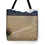 Racetrack Sailing Rocks Death Valley National Park Tote Bag