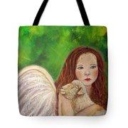 Rachelle Little Lamb The Return To Innocence Tote Bag