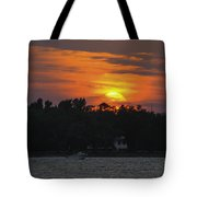 Racing Against The Sunset Tote Bag