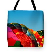 Racing Balloons Tote Bag by Bill Gallagher