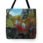 Racing Car Animals Tote Bag by Martin Davey