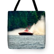 Racing Speed Boat Tote Bag