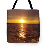 Racing To The Fish Before Sunrise Tote Bag