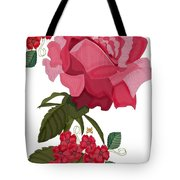 Rad Pink And Red Rose Tote Bag