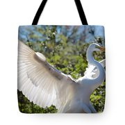 Radiant Great Egret Tote Bag