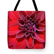Radiant In Red - Dahlia Tote Bag