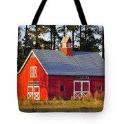 Radiant Red Barn Tote Bag