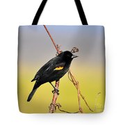Radiant Red-winged Tote Bag