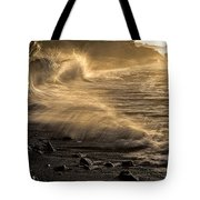 Radiant Sunrise Surf Tote Bag