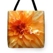 Radiating Orange Dahlia Tote Bag