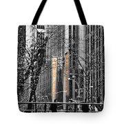 Radio City At Christmas - Black And White Tote Bag