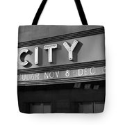 Radio City In Black And White Tote Bag