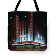 Radio City Music Hall In New York City Tote Bag