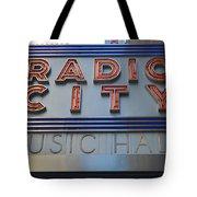 Radio City Music Hall Tote Bag