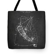 Radio Telescope Patent From 1968 - Charcoal Tote Bag