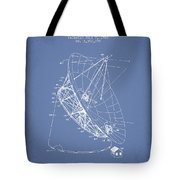 Radio Telescope Patent From 1968 - Light Blue Tote Bag